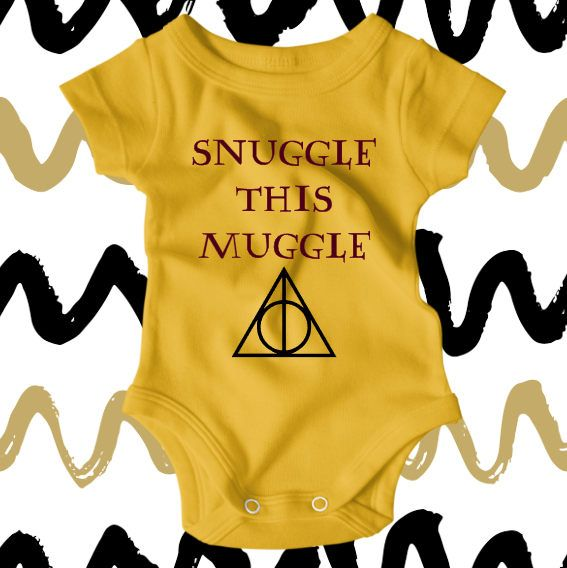 1ce21042344 Harry Potter Baby Clothes Snuggle this Muggle Harry