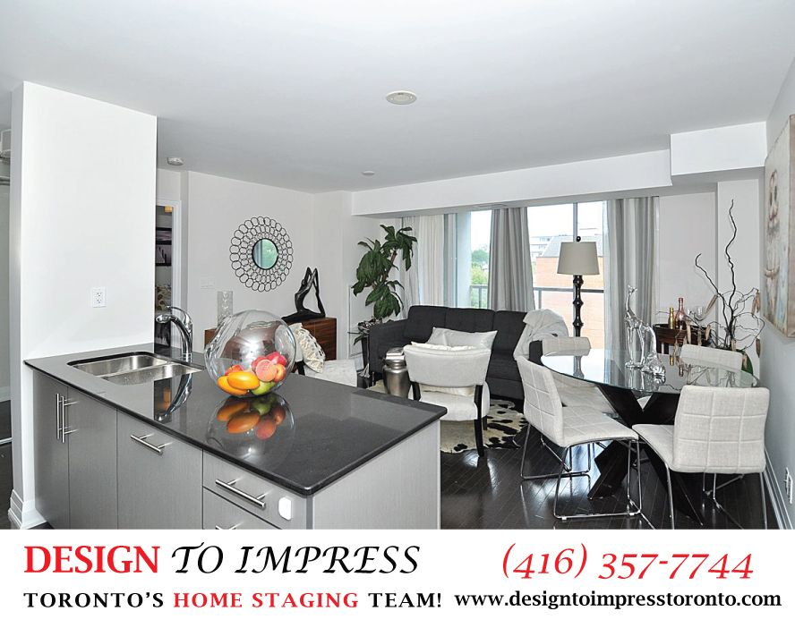 apartment staged in downtown toronto at avenue and bloor by