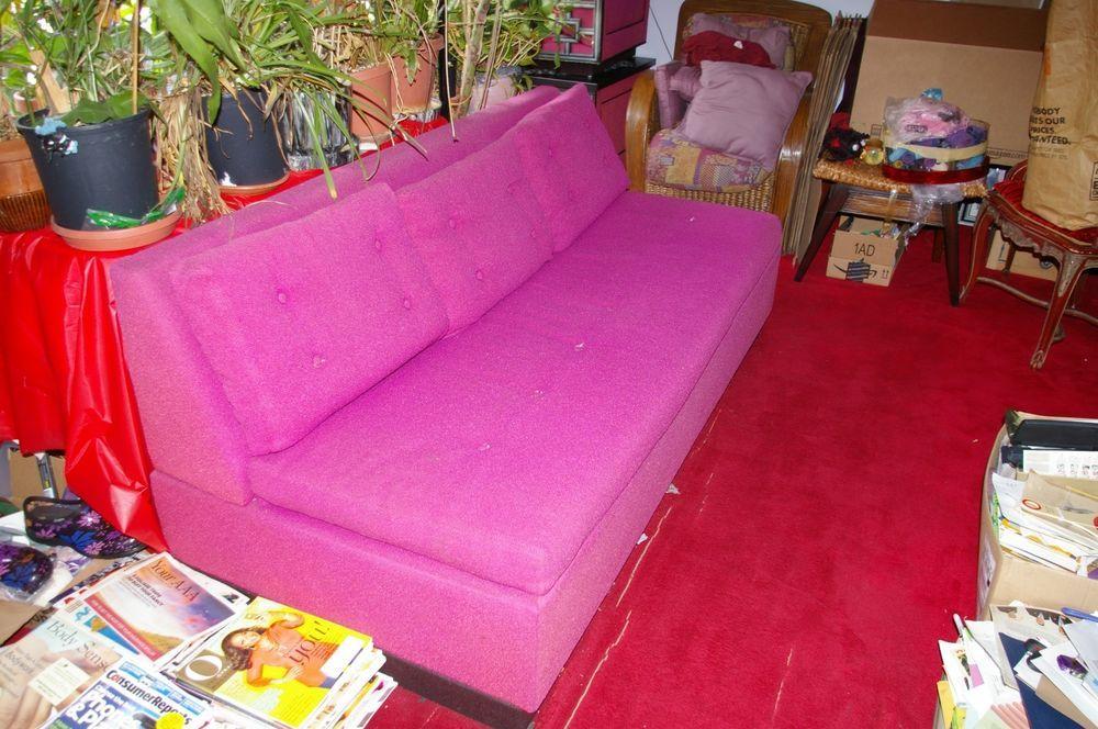 Shagadelic Hot Pink Castro Convertible Midcentury Modern Sleeper