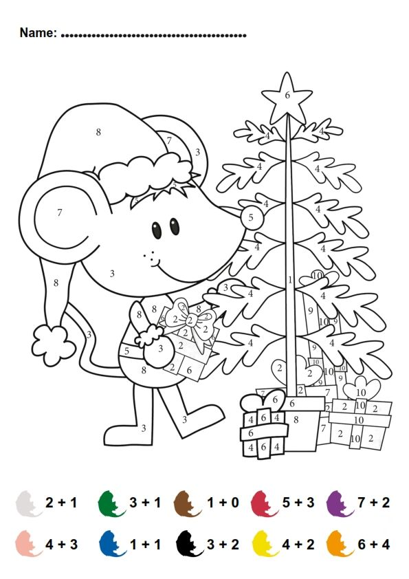 FREE color by number - addition! | Skole | Pinterest | Free ...