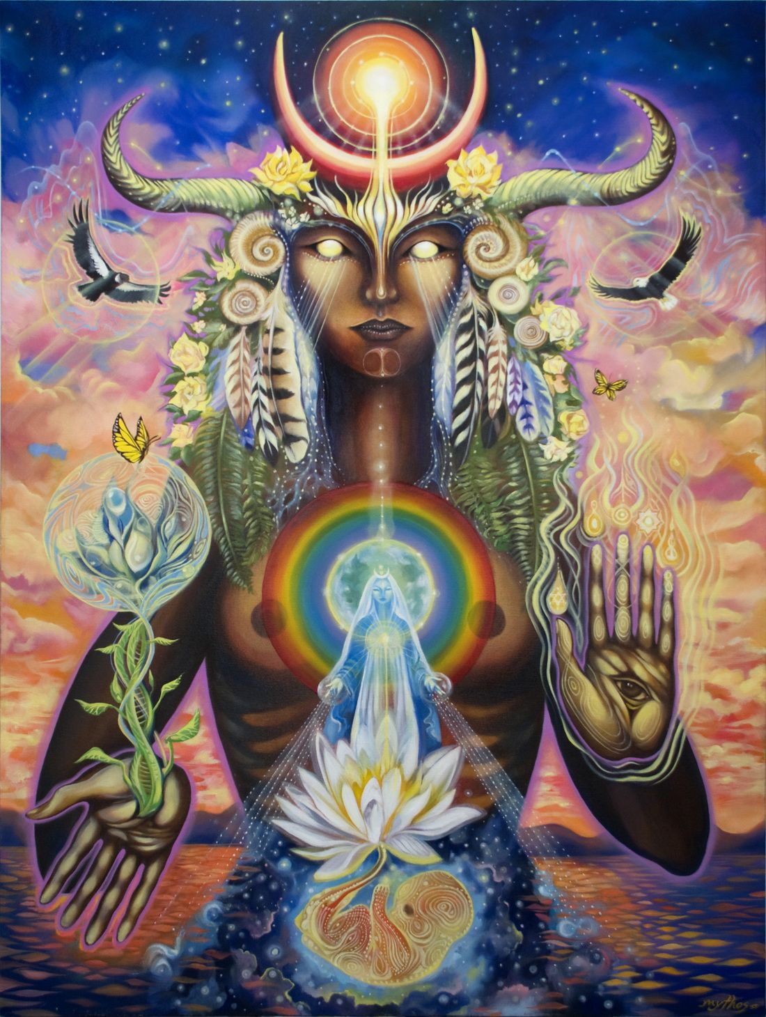 Universal Goddess Tarot: Universal Mother By Tessa Mythos Sts Respective Pages In