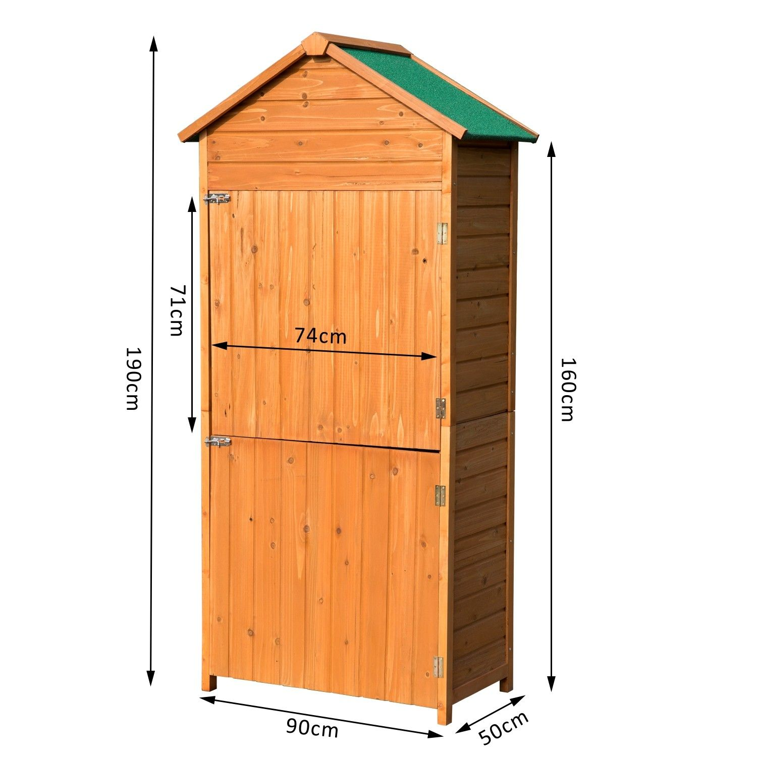 Small Wooden Garden Storage Shed Outsunny 90 x 50cm