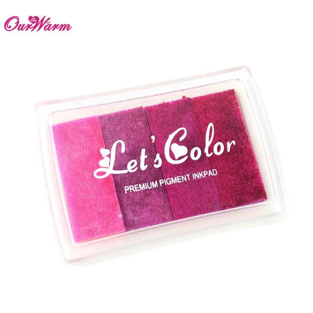 Rubber stamp craft supplies - Multicolour Creative Diy Oil Rubber Stamps Ink Pad For Wedding Decoration Party Favors And Gifts Craft