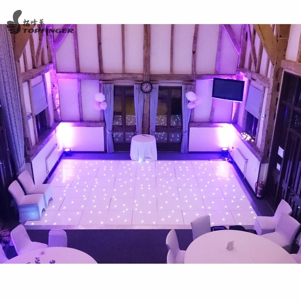 Black And White Color Light Up Illuminated Disco Al Starlit Led Dance Floor For Wedding