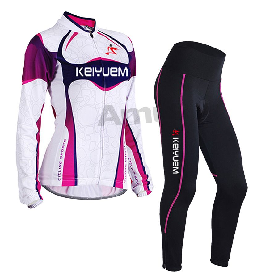02efc1fd6 Amur Leopard Women Long Sleeve Autumn Cycling Jersey set Breathable Tight  Sports Clothing Bike Wear Maillot