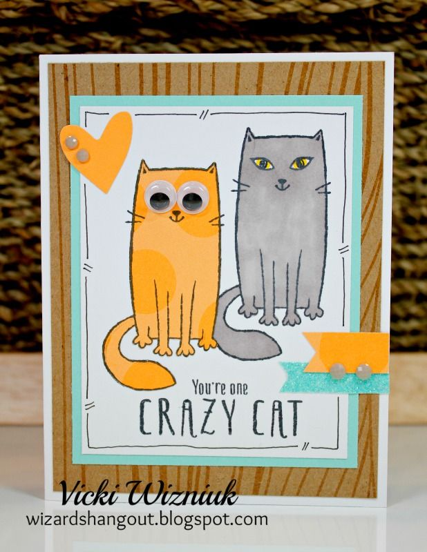 Crazy Cats By Wizards Hangout Ctmh August 2016 Sotm Rebekahctmh