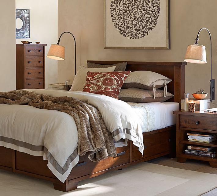 Sumatra Storage Platform Bed Master Bedroom Dark Furniture Bed Furniture Storage Bed