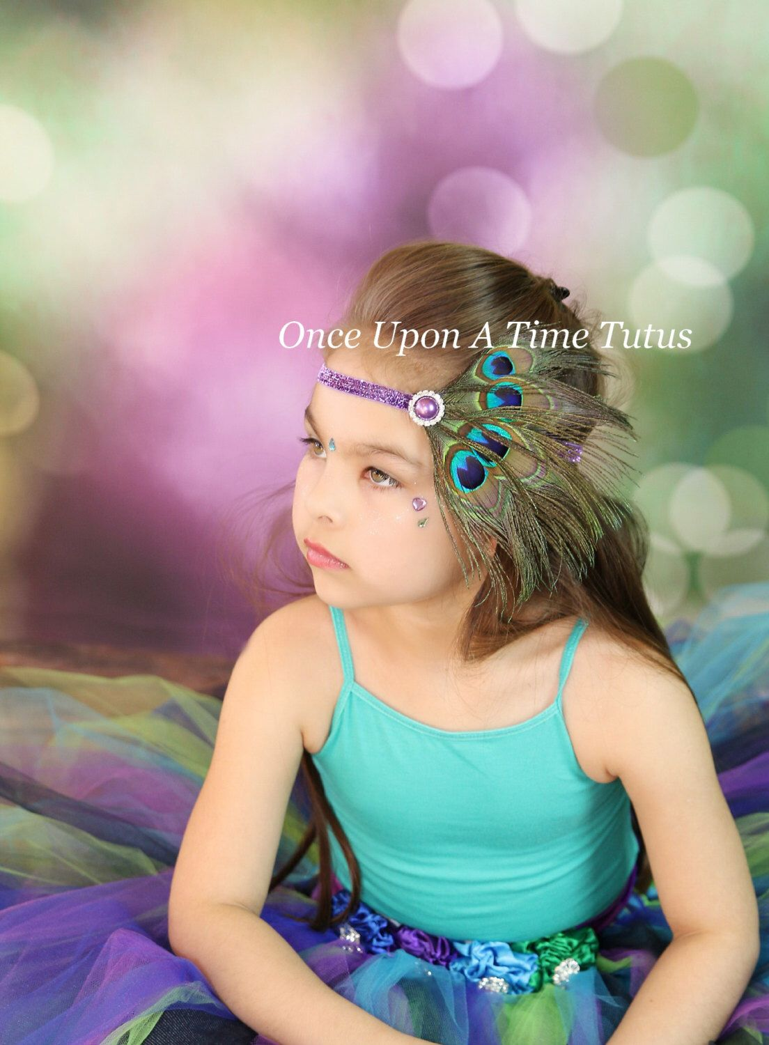 Couture Peacock Feather Headband - Costume, Wedding, Birthday, Photo Prop Pearl Glitter Hairbow - Newborn Infant Baby Child Girl Hair Bow by OnceUponATimeTuTus on Etsy https://www.etsy.com/listing/225266575/couture-peacock-feather-headband-costume