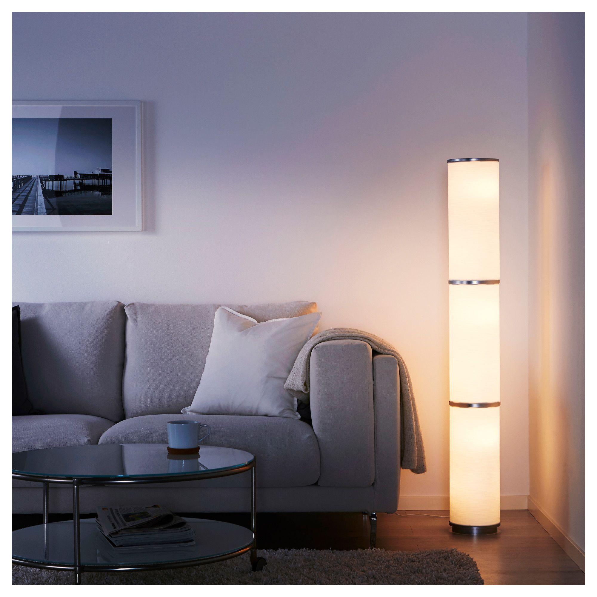 Vidja White Floor Lamp 138 Cm Ikea White Floor Lamp Floor Lamp Ikea