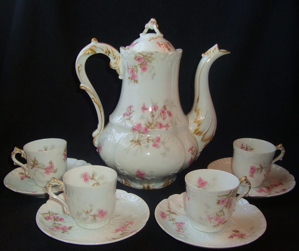 Antique cocoa set - I have a similar one from my great grandmother!
