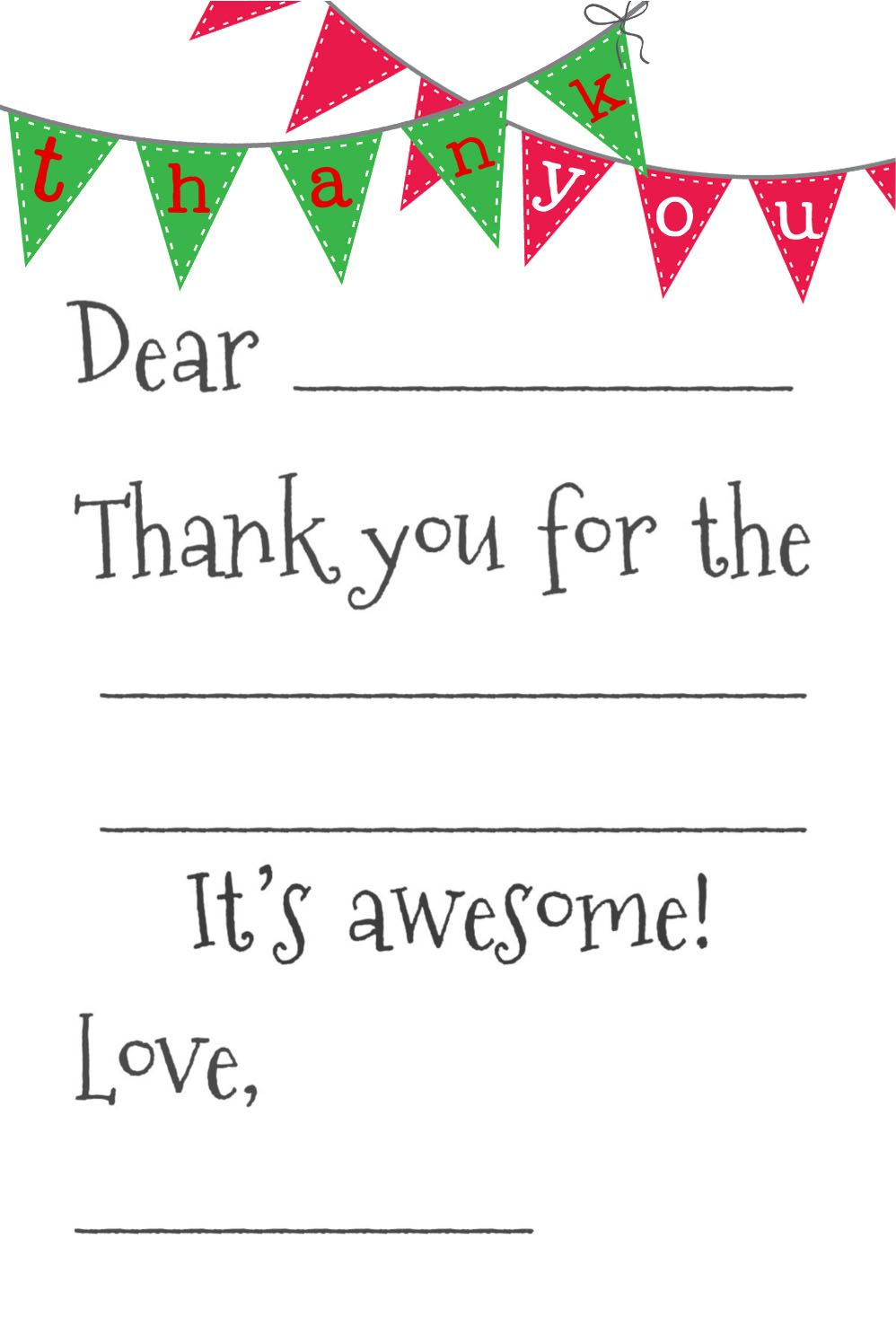 image about Fill in the Blank Thank You Cards Printable titled Absolutely free Fill-In just-the-Blank Thank-Oneself Playing cards Printables Absolutely free