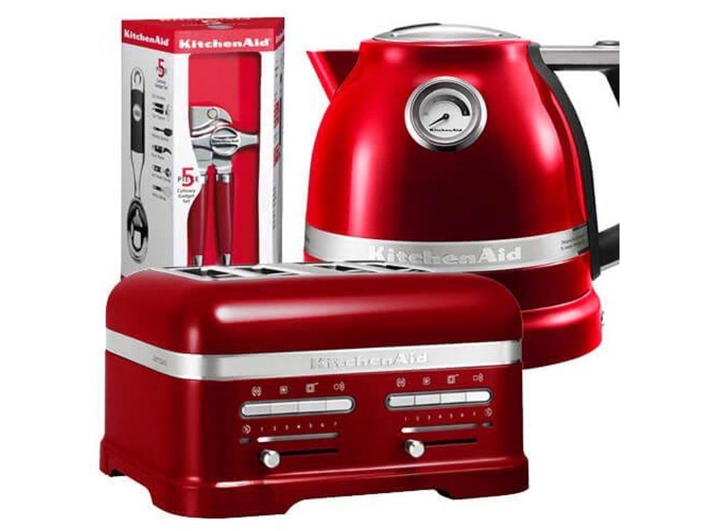 Kitchenaid artisan candy apple 4 slot toaster and kettle