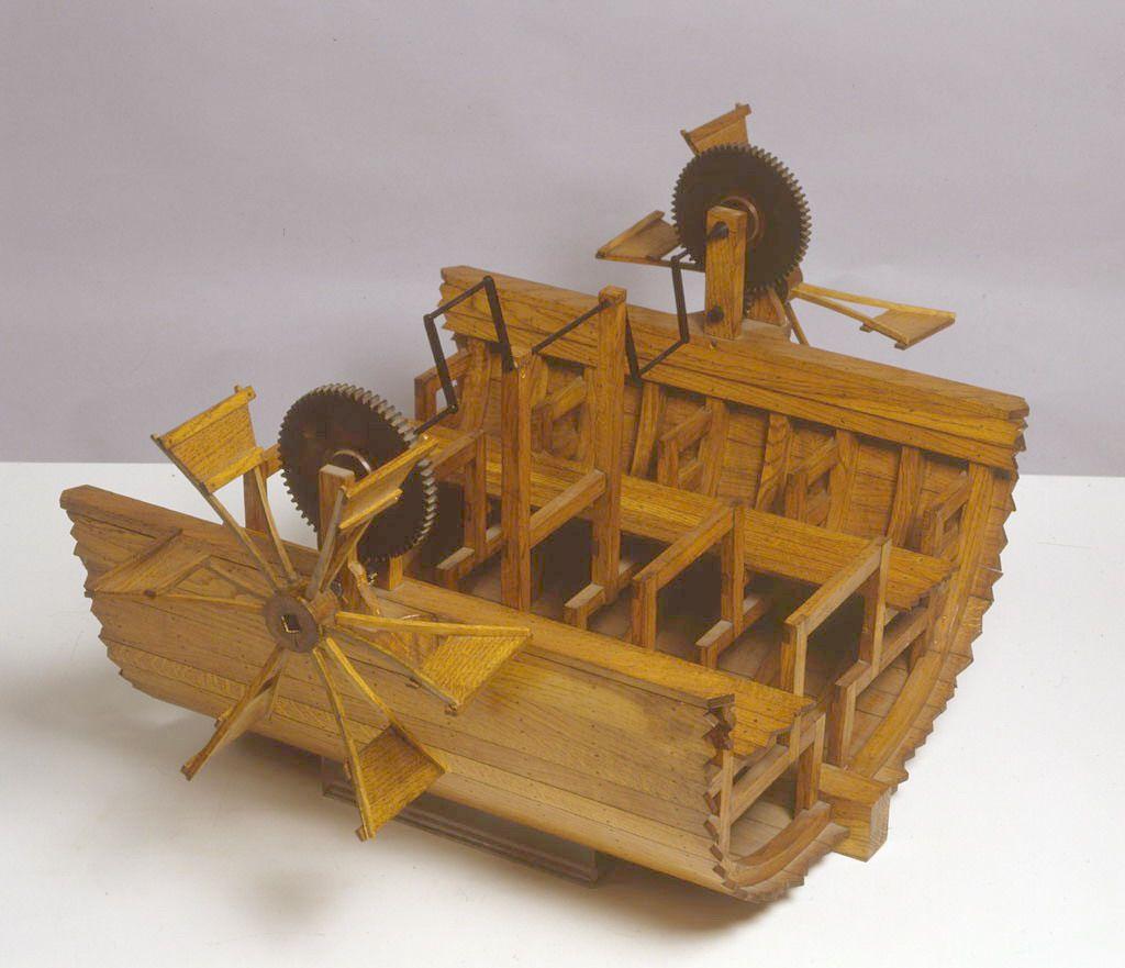 The paddle boat of leonardo da vinci leonardo davinci for Invenzioni di leonardo da vinci
