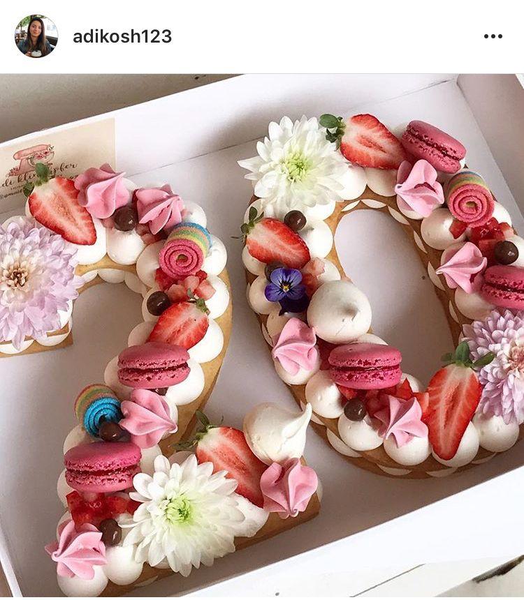 Torta číslo Cream Tart Pinterest Kage Kage Fødselsdag E Kage