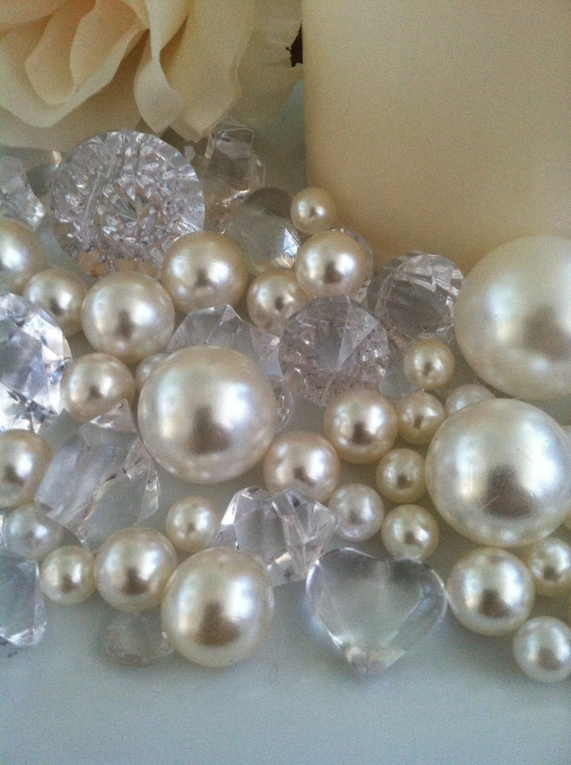 Rose Gold 8mm  Pearl Bead Trim   Cakes crafts weddings