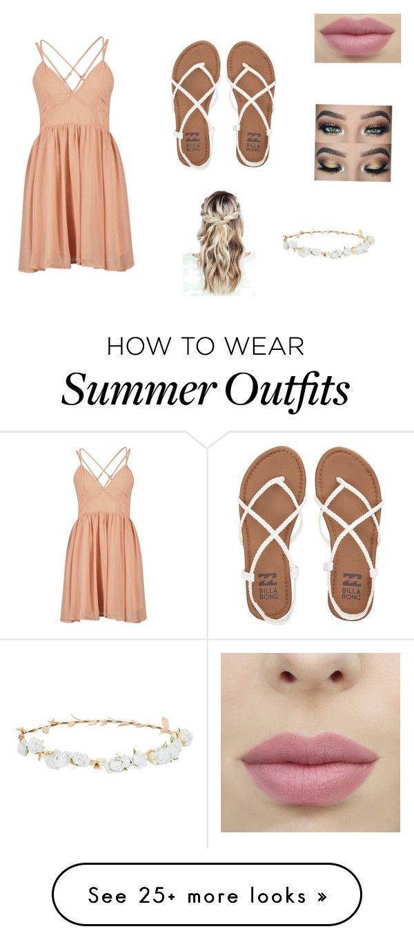 """5c32f64fe97 Collection Of Summer Styles """"Cute summer festival outfit"""" by summerharding  on Polyvore featuring Billabong and Robert Rose"""