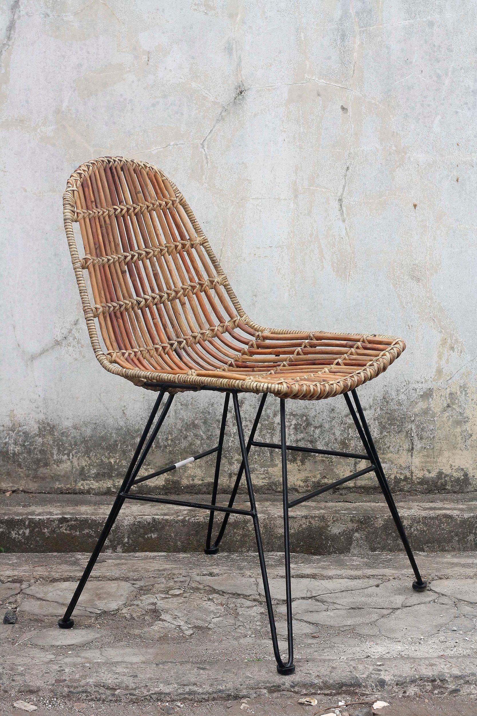 Sit Rattanstuhl Vintage Im 2er Set Gestell Aus Metall Online Kaufen Otto Vintage Stuhle Korbstuhle Esszimmerstuhl