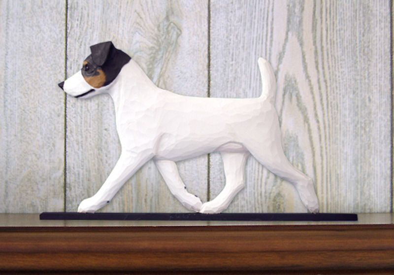 Jack Russell Terrier Sign Plaque Wall Decor Tri Jack Russell