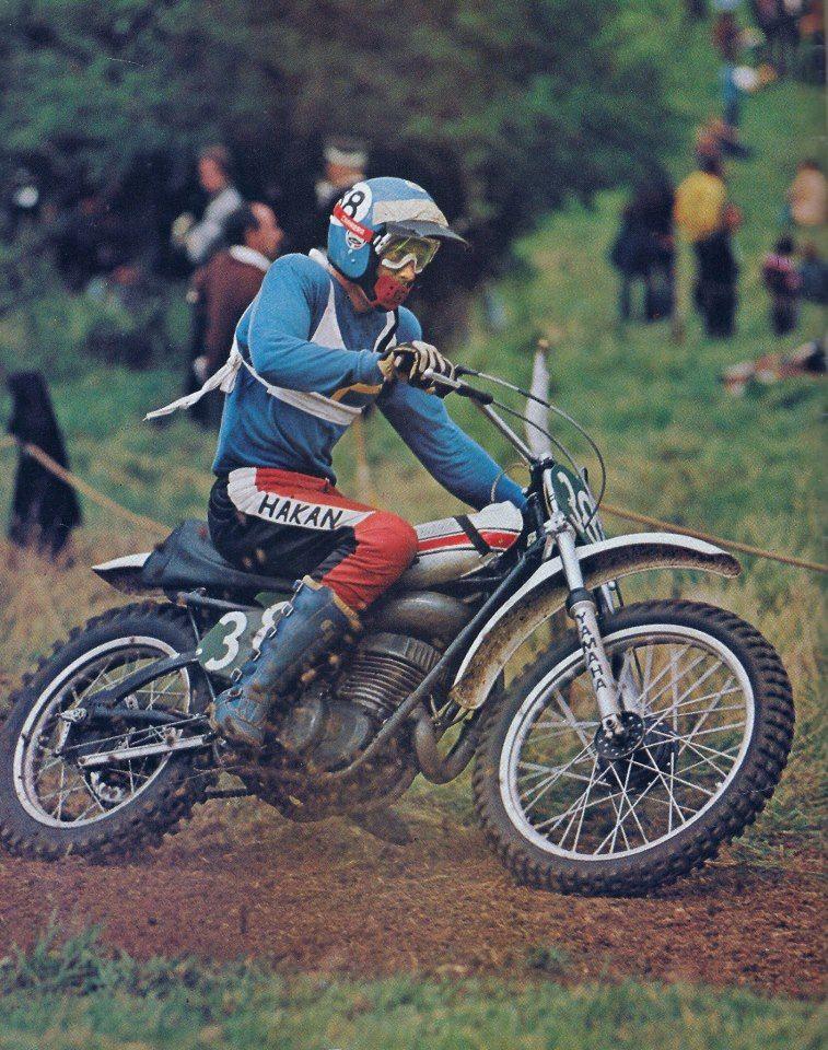 1973 Hakan Andersson on a Yamaha YZ.