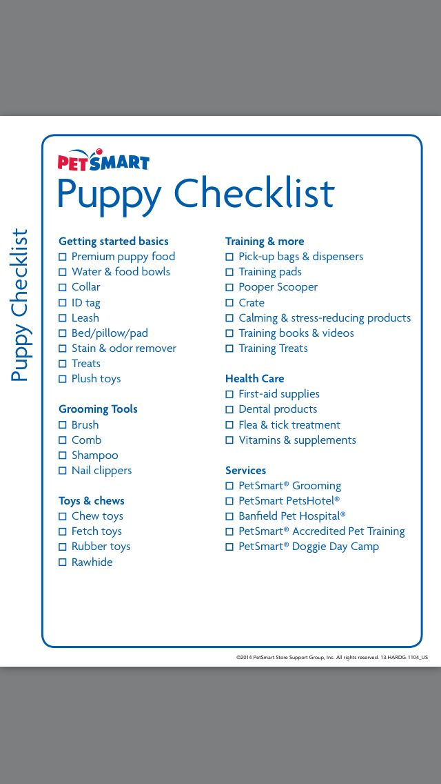 Puppy Shopping List - Tap the pin for the most adorable pawtastic - checklists boosting efficiency reducing mistakes
