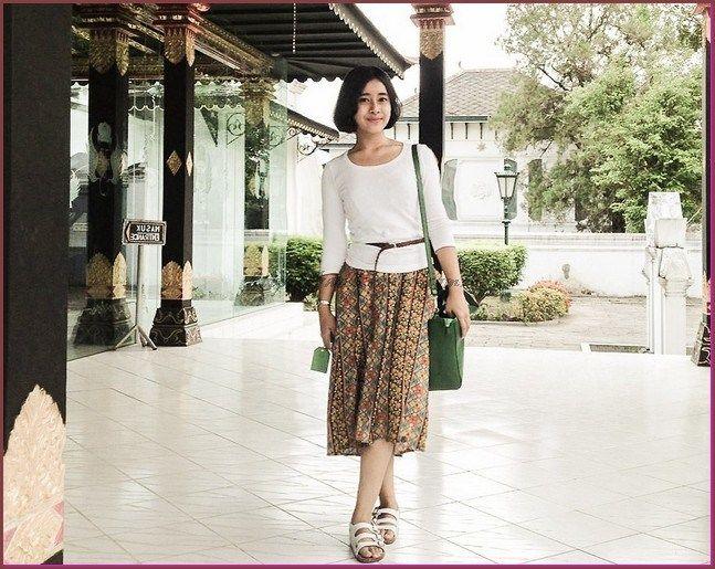 Model Baju Batik Kombinasi Dengan Kain Polos Model Baju Batik