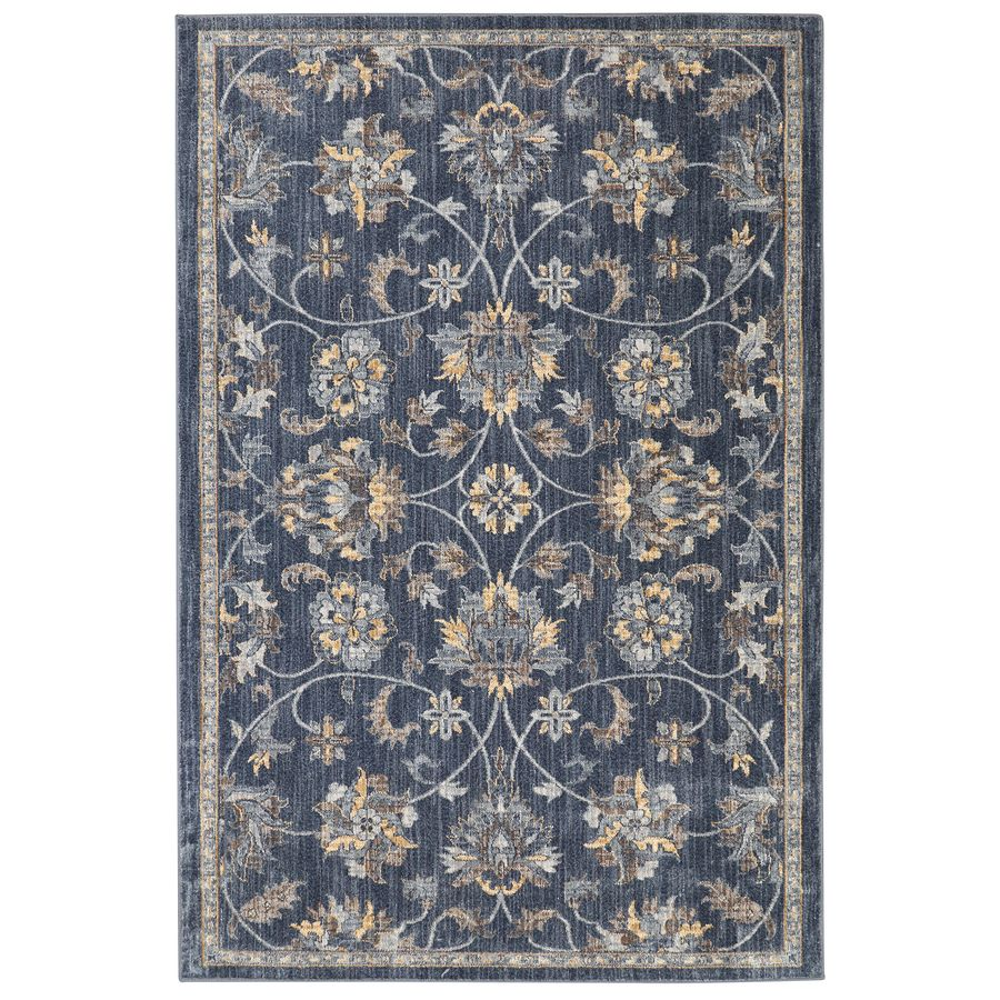 Allen Roth Isburg Denim Rectangular Indoor Woven Area Rug Common 8 X 10 Actual 96 In W X 120 In L Decorate Lowes Rugs Lowes Area Rugs Mohawk Home