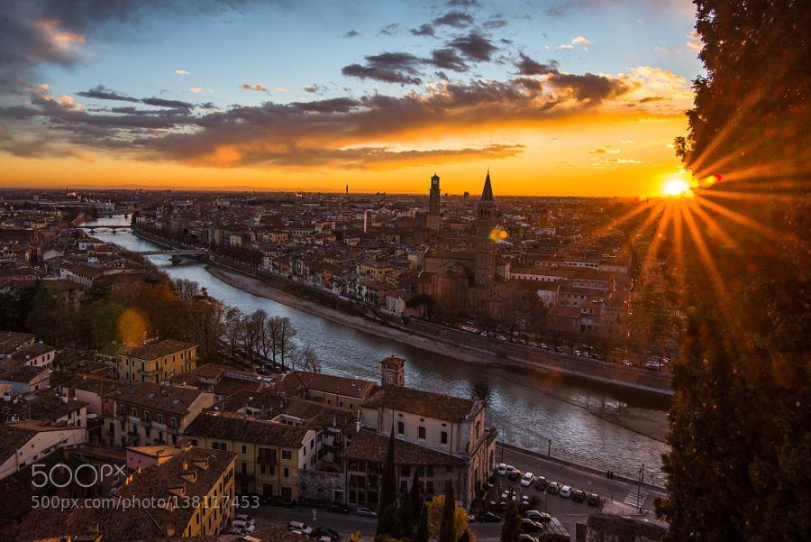 Popular on 500px : Sunset in Verona by gundogdugurkan