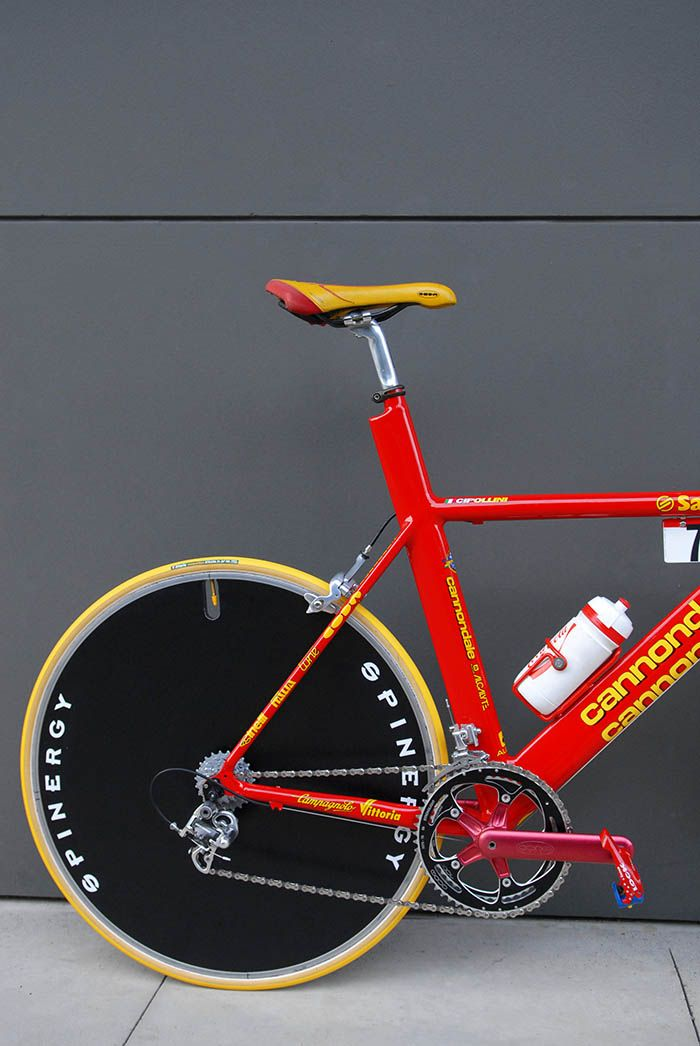 1202d2f5fca Mario Cipollini 1999 team issue Saeco Cannondale custom time trial bike.