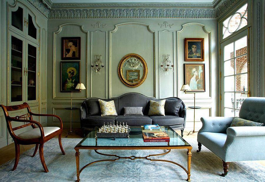 Delightful Victorian Living Room Of New York Home