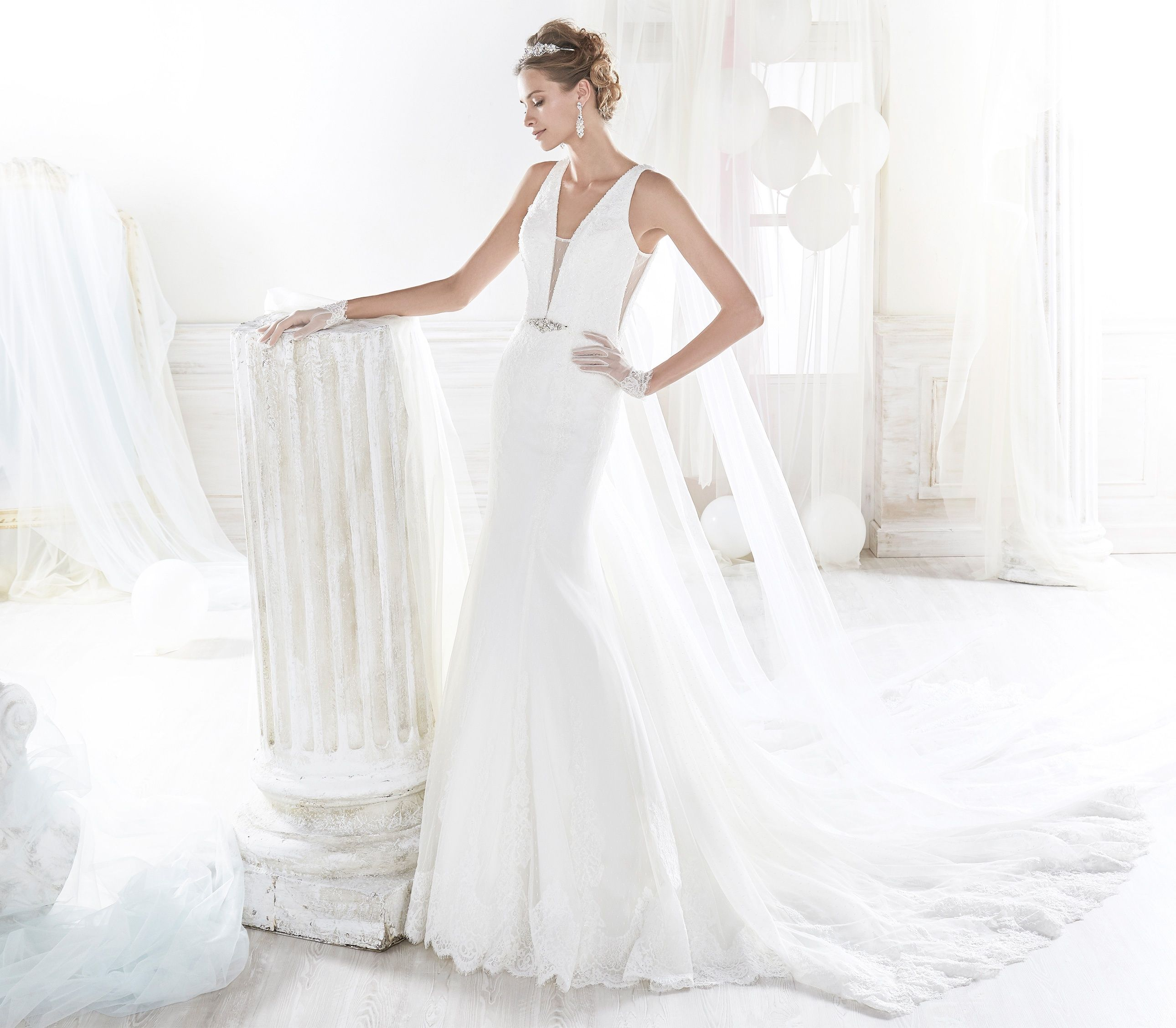 James Clifford Wedding Gowns: Collection NICOLE. NIAB18098. Wedding