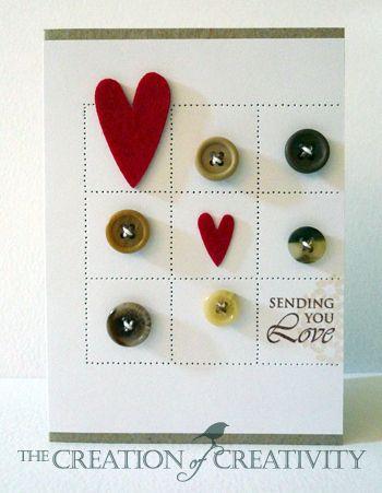 hearts grid pattern