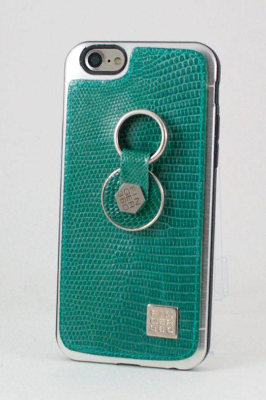 f72080ab5a7 #Carcasa #Piel #Verde #iguana #apple #iphone #6 #6plus #Finger360  #Anticaidas #anillo