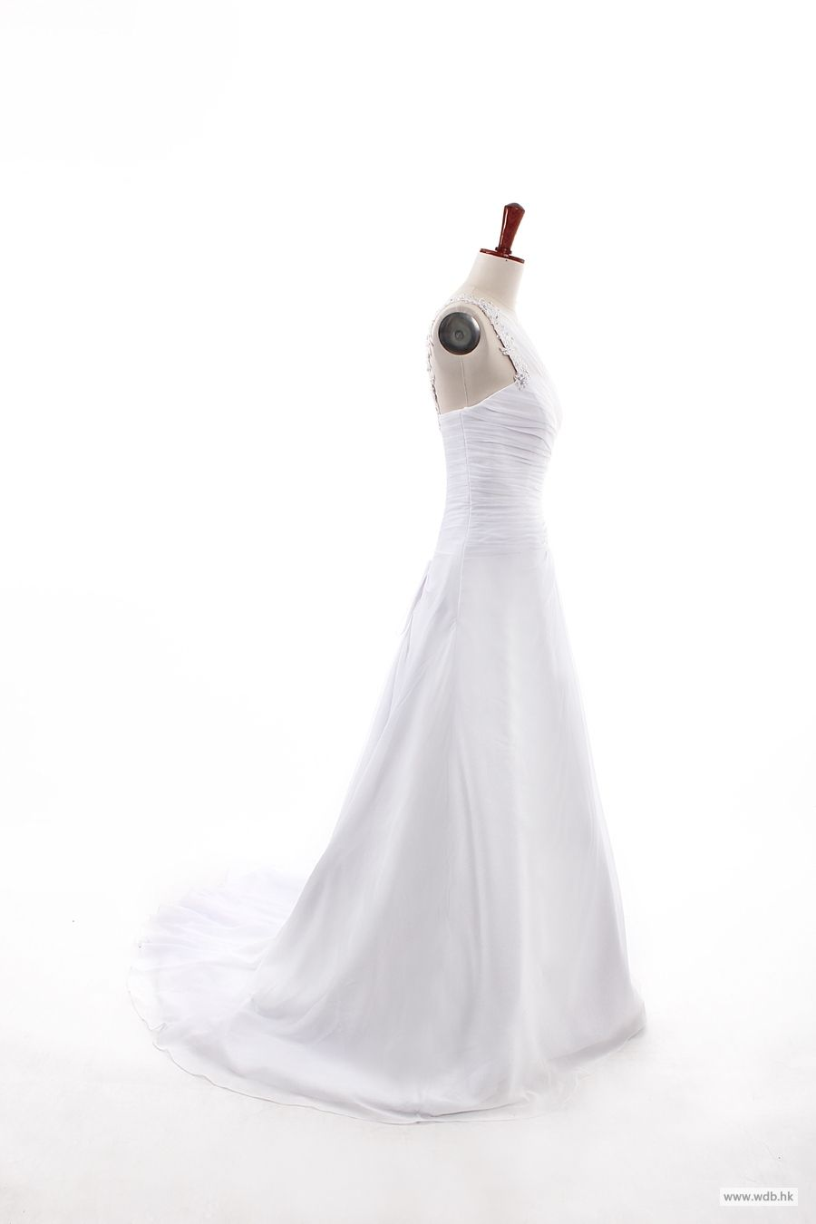 disney wedding Fashionable One Shoulder Dropped waist Chiffon ...