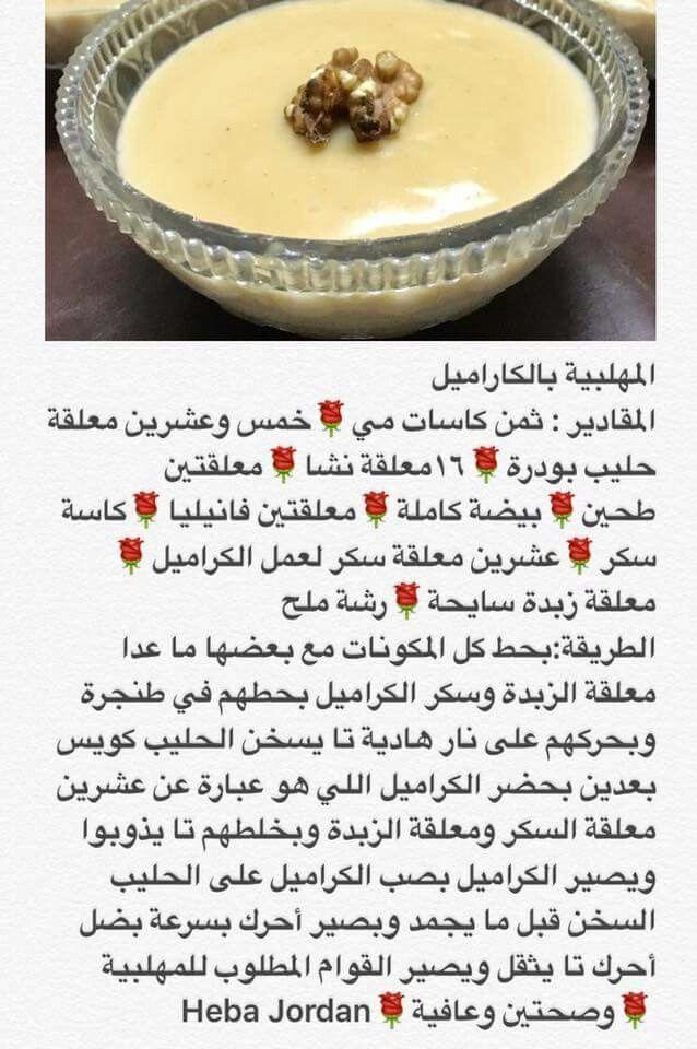 مهلبية الكراميل Ramadan Recipes Food Arabic Food