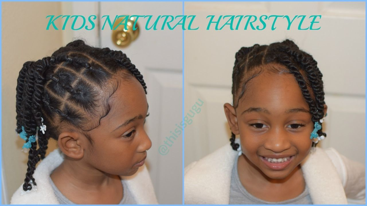 Kids Natural Hairstyles Rubberband Plaits And Twists Rubberband