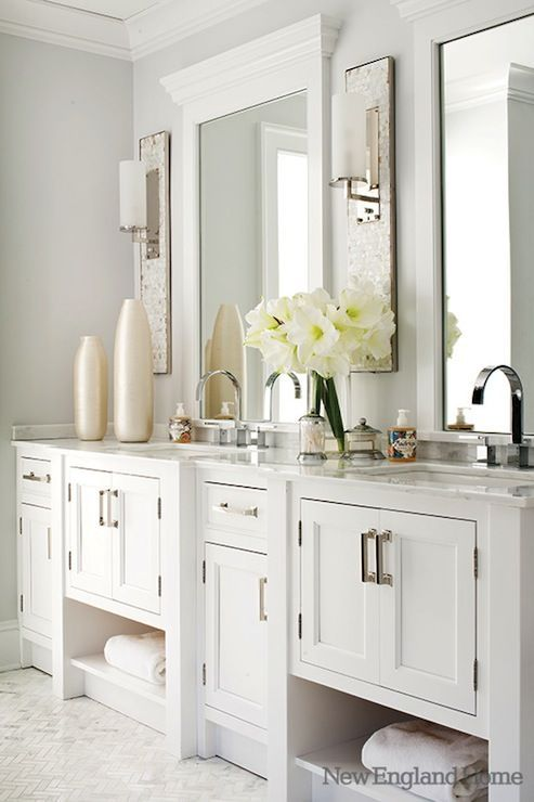 New England Home - Jan Hiltz - Stunning master bathroom ...