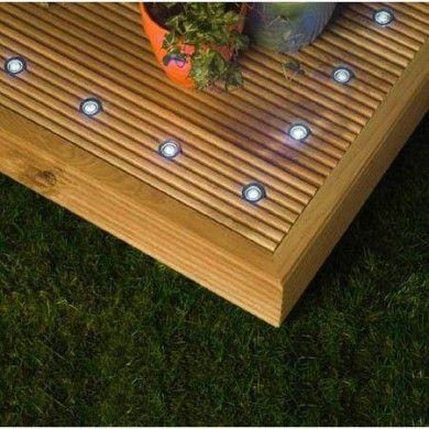 10 x led outdoor decking light kit white garden ideas 10 x led outdoor decking light kit white aloadofball Images