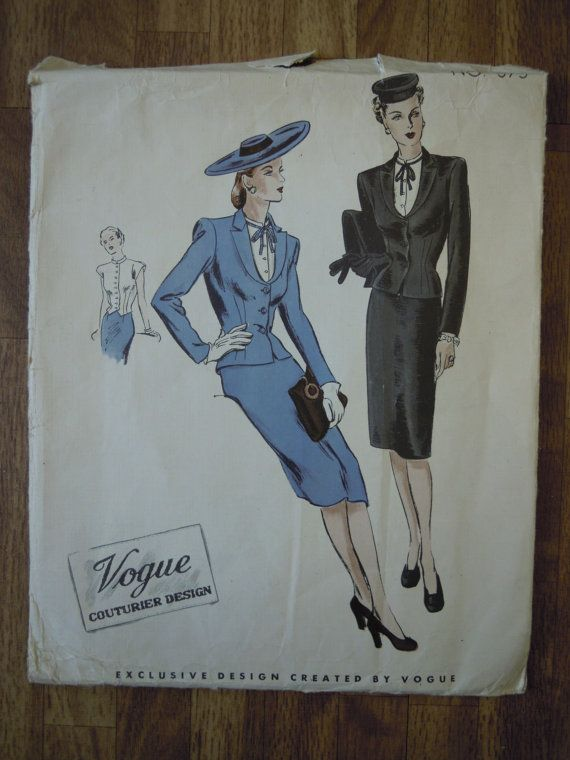 Vintage 1940s Vogue Couturier Sewing Pattern Skirt by FoxVintageUk, £19.98