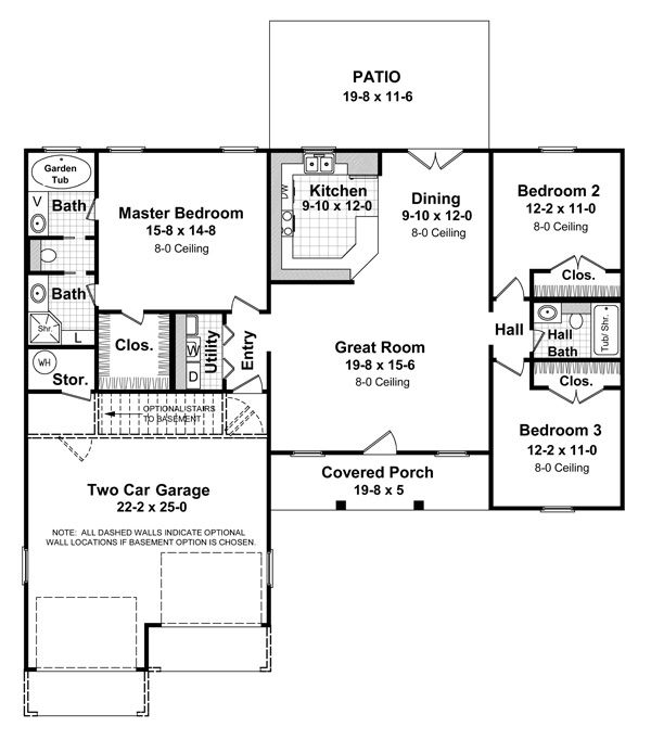 Simple Small House Floor Plans | Small House Plans: 1HPNET-1400-1 ...