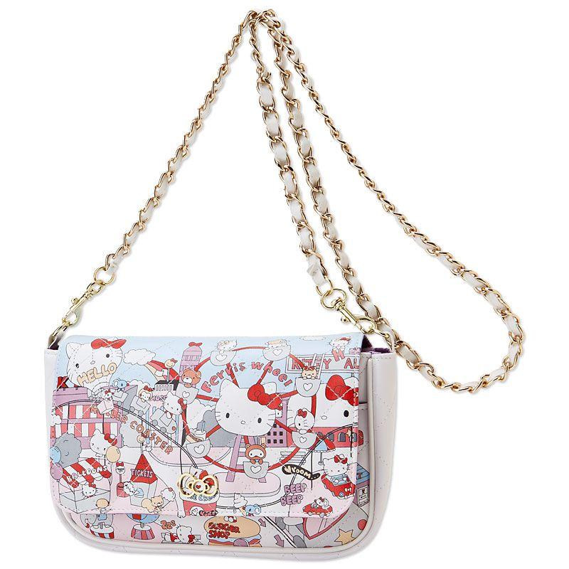 914d1af53904 Hello Kitty Mini Shoulder Bag Purse Amusement Park SANRIO JAPAN ...