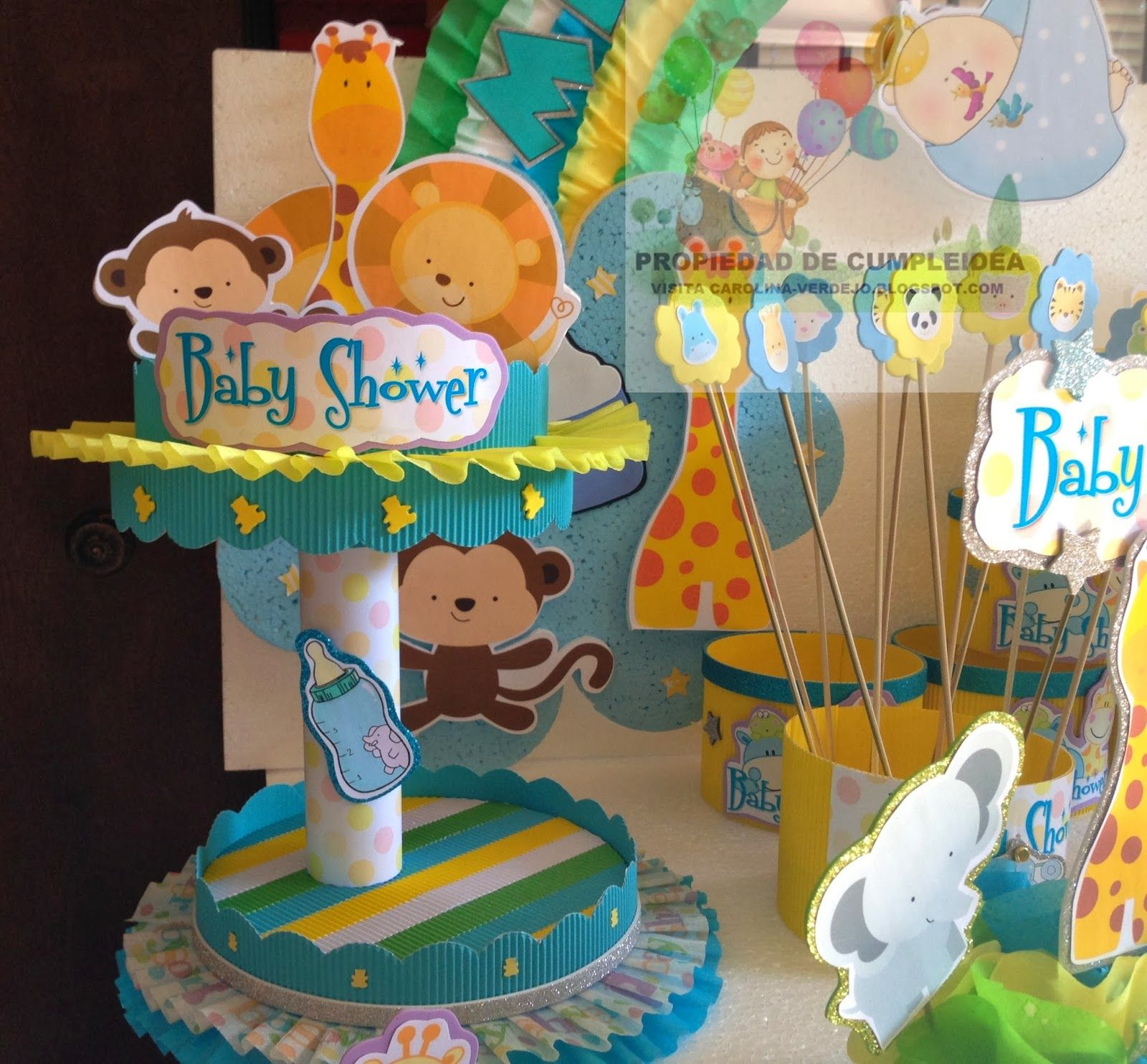 Decoracion De Baby Shower De Animales.Decoracion Baby Shower Nino Animales De La Selva