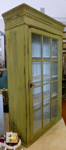 Vintage Wood Medicine Cabinet | Glass Front Cabinet Fabulous Large Antique Solid  Wood Medicine Cabinet .
