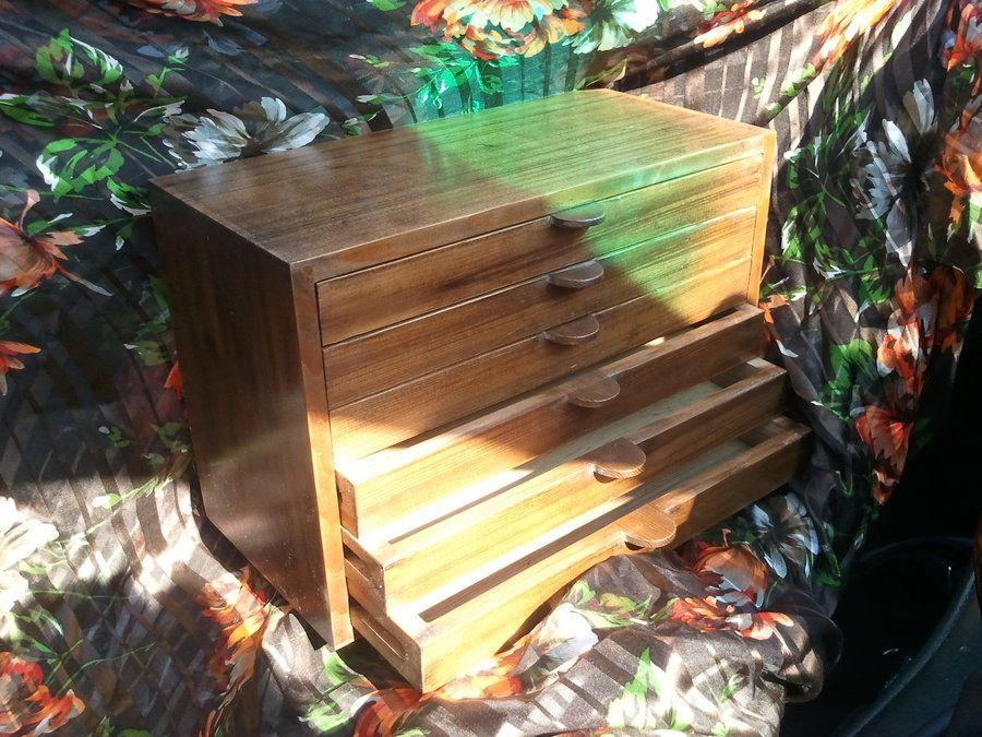 6 draw ceder box