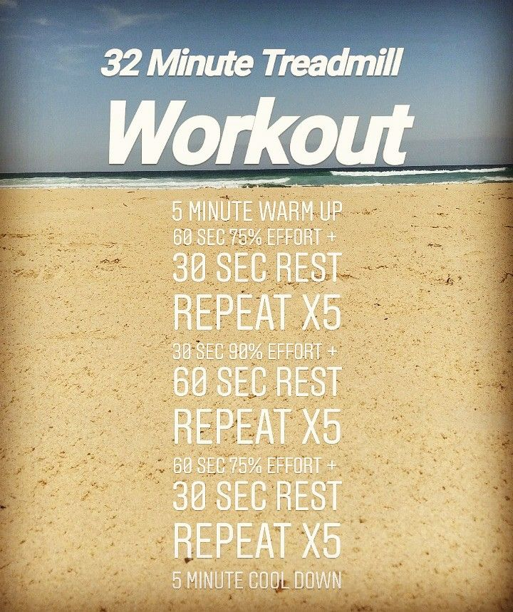 A quick treadmill interval set to get your heart racing ...