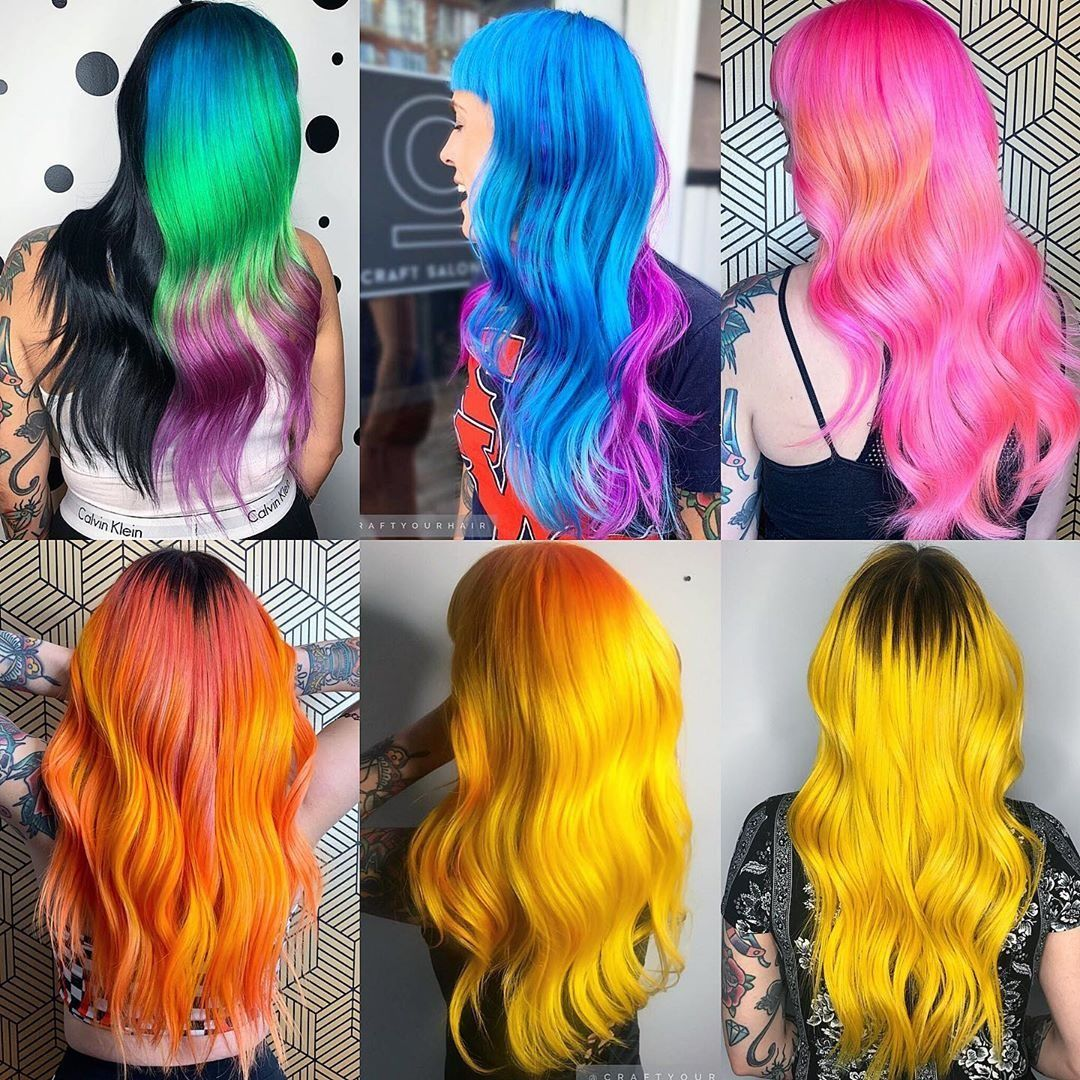 Arctic Fox Hair Color Stefaniejune A Year And A Half In Review As Told By My Hair Fantasyhair Hairin Hair Color Arctic Fox Hair Color Multi Colored Hair