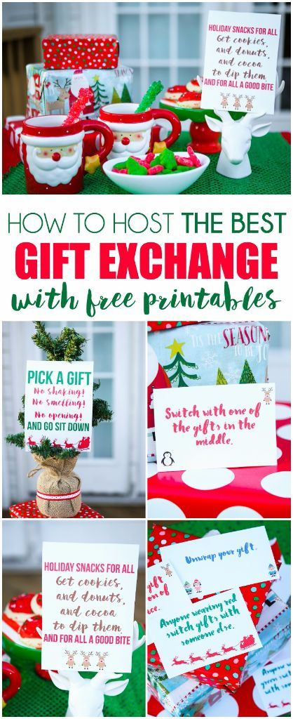 Free Printable Gift Exchange Card Game Christmas Gift Exchange Christmas Party Games Family Christmas Party