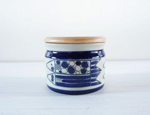 Vintage Rorstrand Marianne Westman jar with lid -Swedish Mid Century