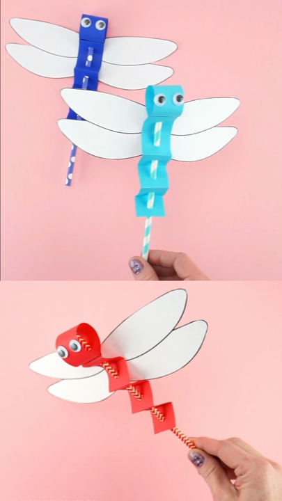 DRAGONFLY CRAFT TEMPLATE -EASY PAPER CRAFT FOR KIDS