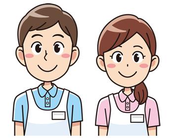 介護福祉士の男性と女性 無料イラスト素材 無料 イラスト 素材