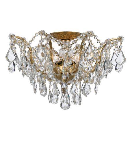 Crystorama Filmore 5 Light Semi-Flush Mount in Antique Gold 4457-GA-CL-MWP #lightingnewyork #lny #lighting